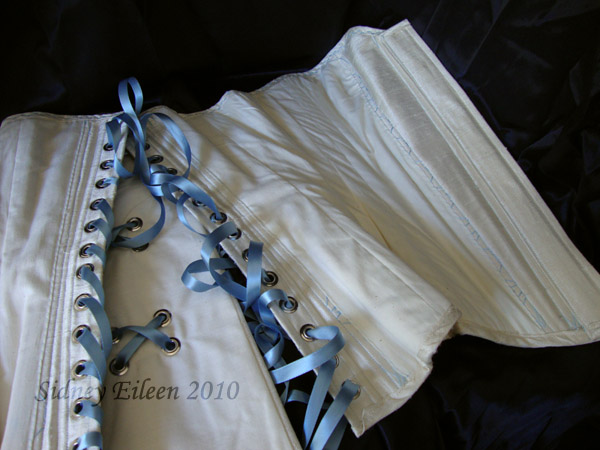 1880's Blue and Cream Silk Sweetheart - Lining, by Sidney Eileen