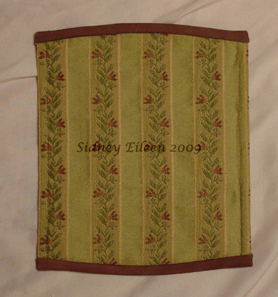 Brocade and Leather Steam - Lacing Panel, Outside View, by Sidney Eileen