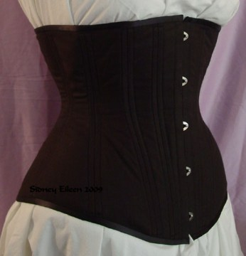 Plain Black Underbust - Quarter Front View, by Sidney Eileen