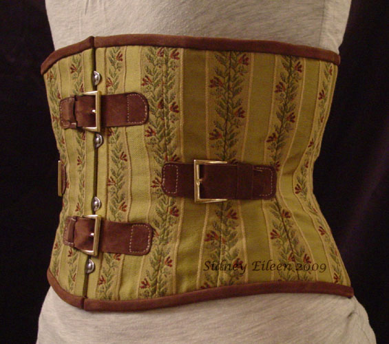Brocade and Leather Steam - Quarter Front View, by Sidney Eileen
