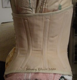 Man's Tea Stained Tight Lacing Underbust, Seamstress: Sidney Eileen