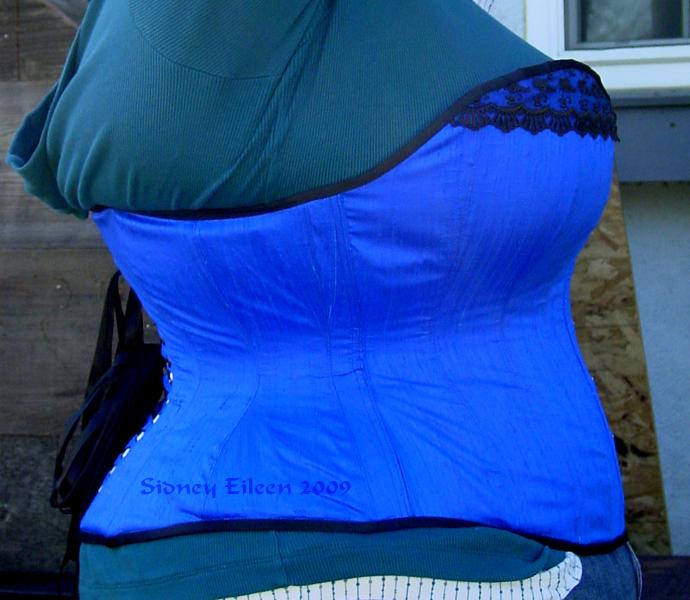 Blue Silk Sweetheart - Side View, by Sidney Eileen