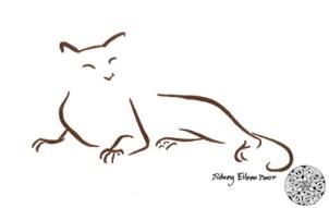 Title: Min. Cat 11, Artist: Sidney Eileen, Medium: brush marker on paper