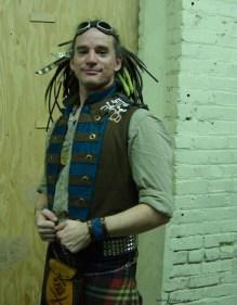 Colorful Violin Vest Final - Modeled by Nathaniel Johnstone