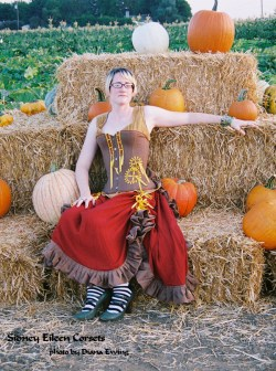 Pumpkin Patch, Sitting, by Sidney Eileen