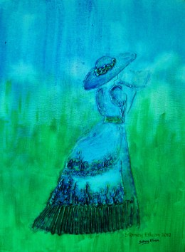 Title: Springtime Stroll, Artist: Sidney Eileen, Medium: impasto acrylic on canvas