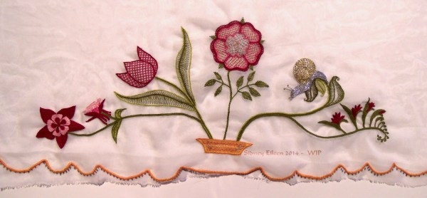 Scalloped Veil Embroidery - WIP4, by Sidney Eileen