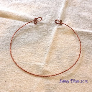 Two-Strand Copper Wire Circlet, by Sidney Eileen. This is my second attempt at this kind of item.