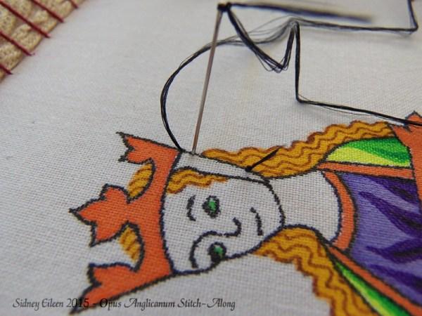 Opus Anglicanum Stitch-Along 010, by Sidney Eileen