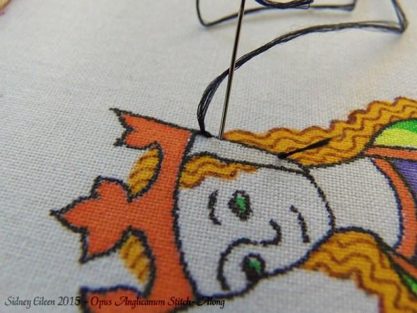 Opus Anglicanum Stitch-Along 012, by Sidney Eileen
