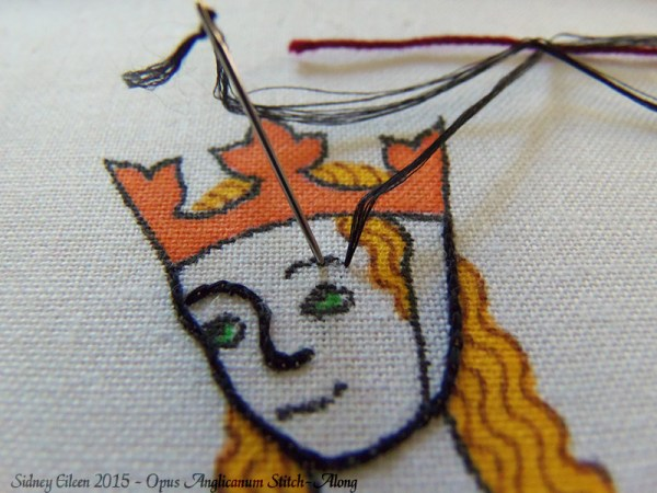 Opus Anglicanum Stitch-Along 025, by Sidney Eileen