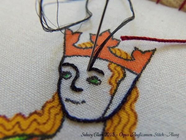 Opus Anglicanum Stitch-Along 026, by Sidney Eileen