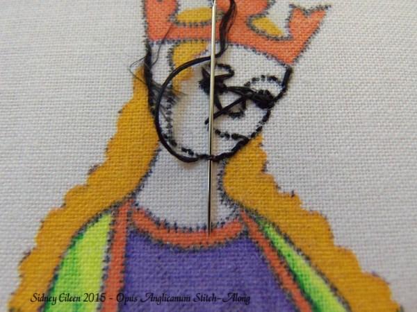 Opus Anglicanum Stitch-Along 038, by Sidney Eileen