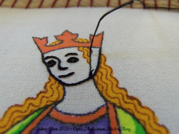 Opus Anglicanum Stitch-Along 040, by Sidney Eileen