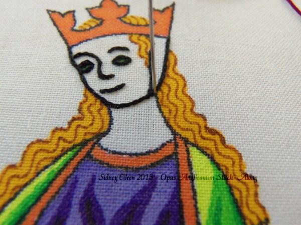Opus Anglicanum Stitch-Along 042, by Sidney Eileen