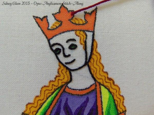 Opus Anglicanum Stitch-Along 044, by Sidney Eileen