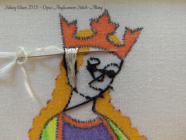 Opus Anglicanum Stitch-Along 056, by Sidney Eileen