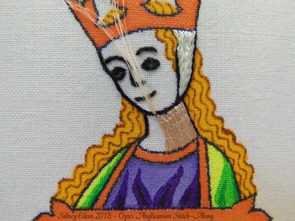 Opus Anglicanum Stitch-Along 062, by Sidney Eileen
