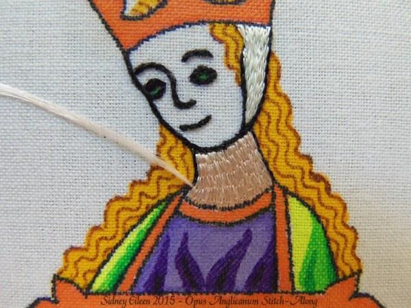 Opus Anglicanum Stitch-Along 067, by Sidney Eileen