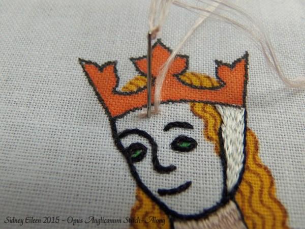 Opus Anglicanum Stitch-Along 074, by Sidney Eileen