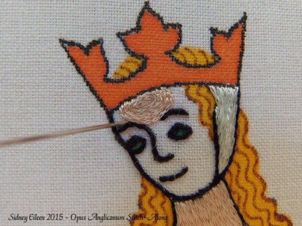 Opus Anglicanum Stitch-Along 085, by Sidney Eileen