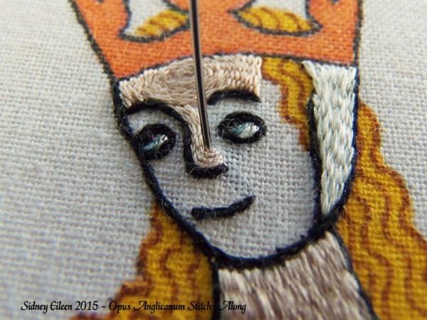 Opus Anglicanum Stitch-Along 095, by Sidney Eileen