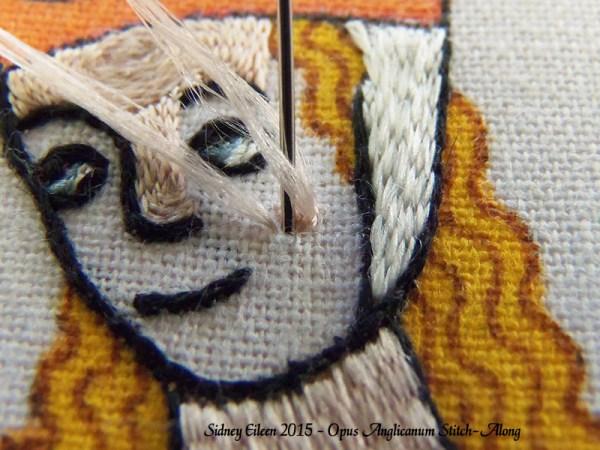 Opus Anglicanum Stitch-Along 107, by Sidney Eileen