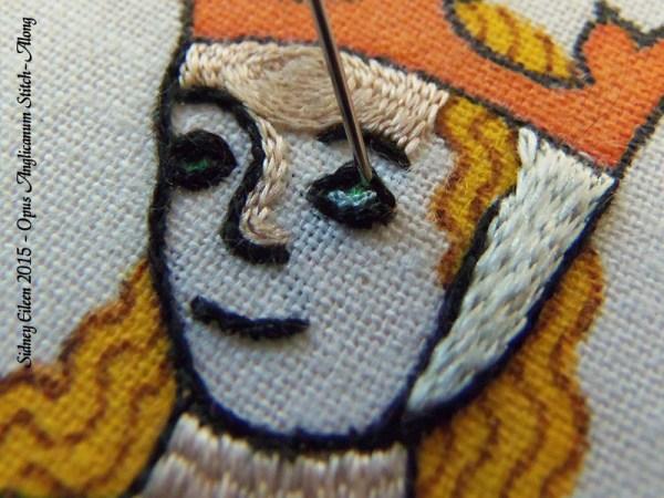 Opus Anglicanum Stitch-Along 113, by Sidney Eileen