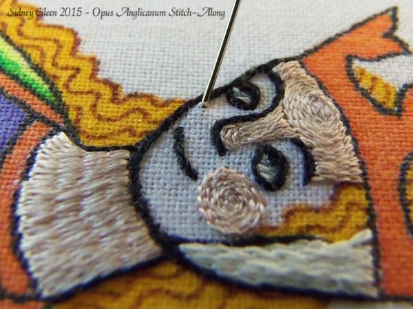 Opus Anglicanum Stitch Along - 119, by Sidney Eileen