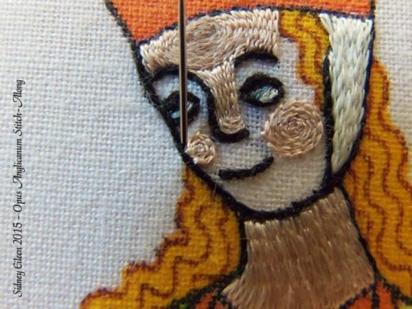 Opus Anglicanum Stitch Along - 121, by Sidney Eileen