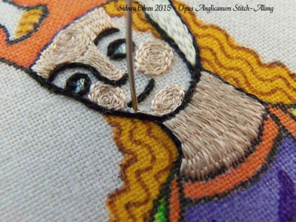Opus Anglicanum Stitch Along - 128, by Sidney Eileen