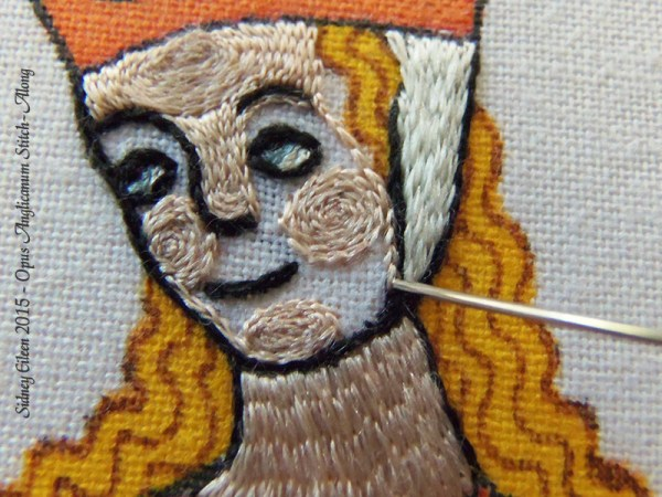 Opus Anglicanum Stitch Along - 133, by Sidney Eileen