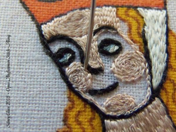Opus Anglicanum Stitch Along - 135, by Sidney Eileen