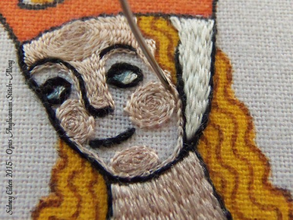Opus Anglicanum Stitch Along - 139, by Sidney Eileen
