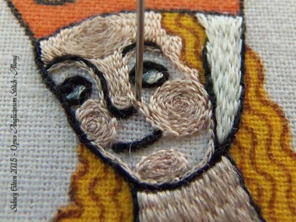 Opus Anglicanum Stitch Along - 142, by Sidney Eileen