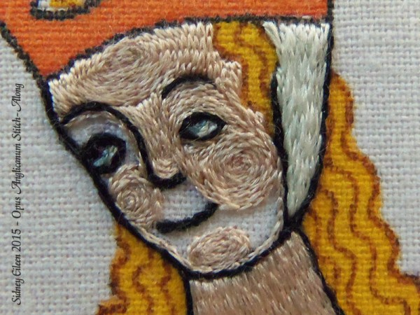 Opus Anglicanum Stitch Along - 153, by Sidney Eileen