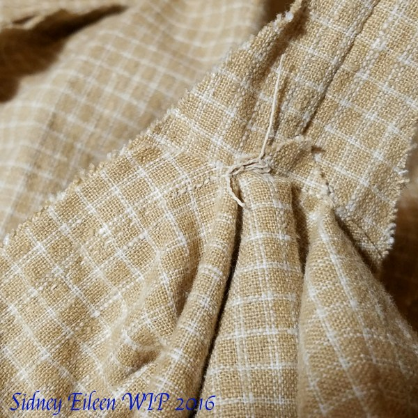 How to Hand Sew Gores on Medieval Garb - 4, by Sidney Eileen. Repeat on the other side of the gore. Line up the seam allowances and stitch to the hem.
