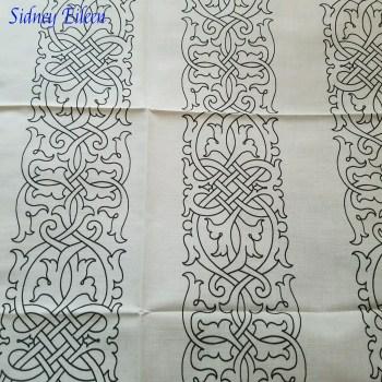Tudor Floral Knotwork on Spoonflower Fabric