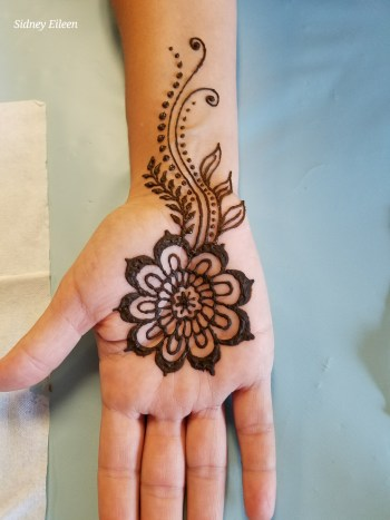 Henna Tattoo Spell Painting