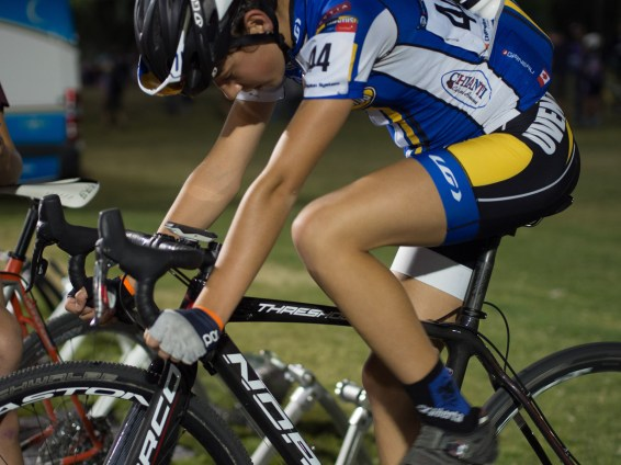 Warming up on the trainers at CrossVegas 2015