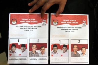 Surat suara pilpres 2014