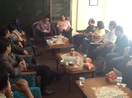 Gabungan Pengusaha Korban Lumpur (GKLL) saat audensi dengan DPRD Sidoarjo