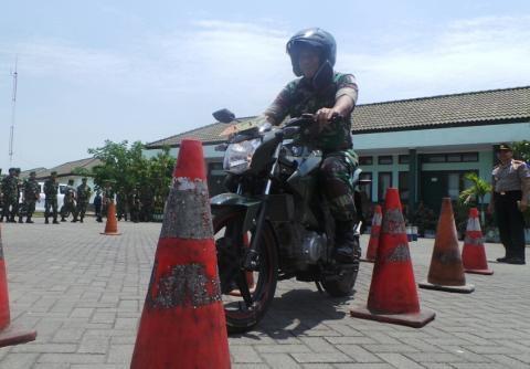 Dandim 0816 Bambang Utomo ikuti tes drive Satlantas Polres Sidoarjo