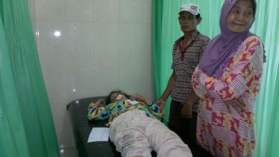 Korban saat dirawat di RS Bhayangkara Porong