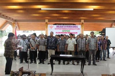 Prosesi pengukuhan pengurus IPPMI Kabupaten Sidoarjo di Pendopo Delta Wibawa Sidoarjo