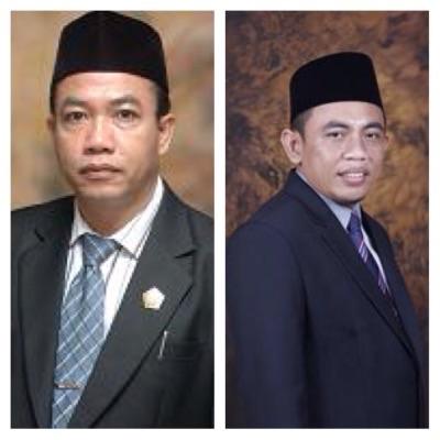 Ketua Komisi D H Usman dan Sekretaris Komisi D H Bambang Pujianto