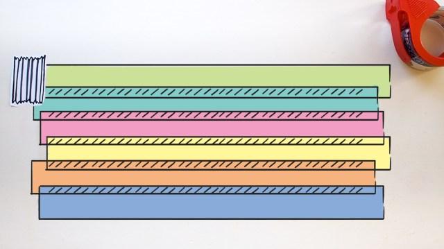 一片膠帶_重點小提示:膠朝上、每一段都重疊黏貼