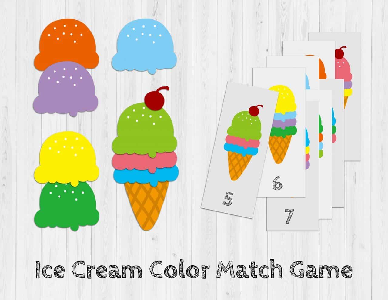 (限時免費下載) 冰淇淋顏色配對遊戲
