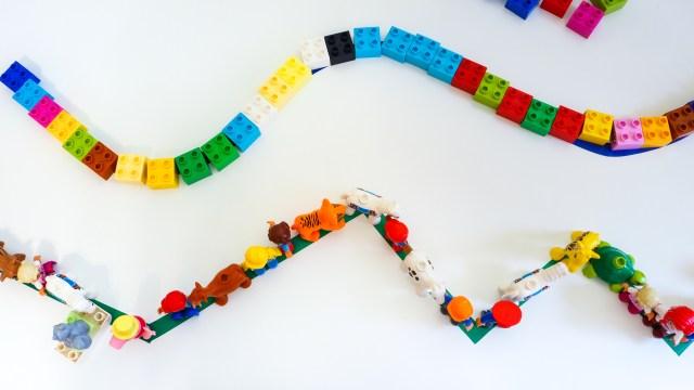 DIY 兩款簡易小遊戲 彩色膠帶軌道