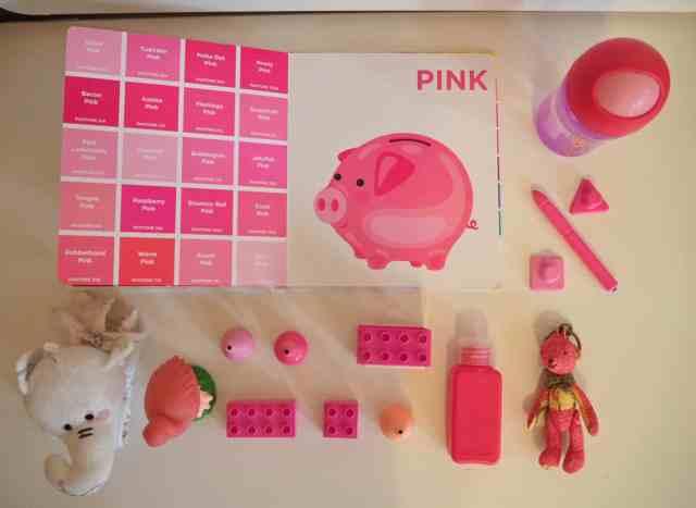 認識色票顏色小遊戲-粉紅色
